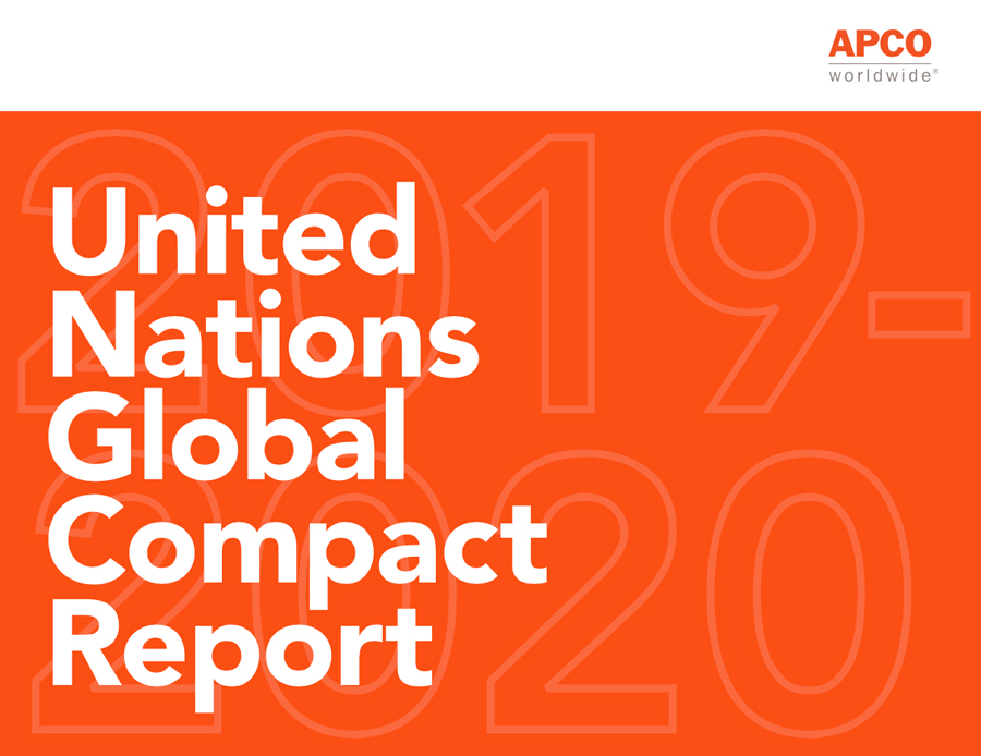 APCO Worldwide's 2020 UN Global Compact Report