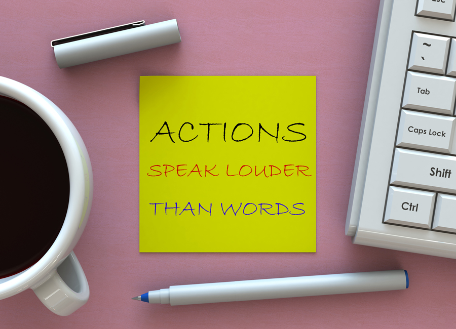 Actions Over Words: Living Corporate Values